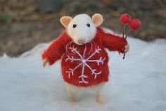 Mouse Christmas gift Mouse doll New Year gift for by MillaKnitt