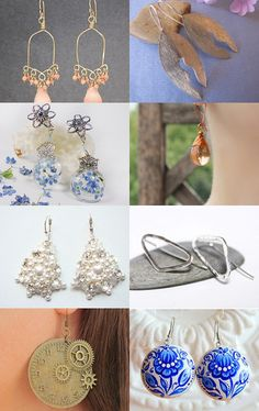 Collection of earrings for you)) by Iryna Limanska on Etsy--Pinned with TreasuryPin.com