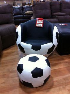 Any new soccer moms looking for kids soccer furniture? Kids Soccer, Play Soccer, Soccer Stuff, Youth Soccer, Football Rooms, Soccer Theme, Boy Room, Boys Soccer Bedroom, Child Room