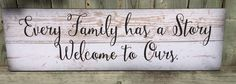 Every Family Has A Story Wood Sign - Christmas, Birthday, Father's Day, Mother's Day Inspirational Gift by HeartlandSigns on Etsy