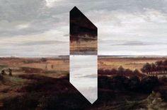 reynalddrouhin:  Monolith Art, Reynald Drouhin 2014, photographie modifiée, 36 x 24cm.Monolith / Jan Vermeer, (Holländische Flachlandschaft,1660).