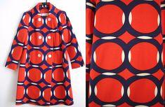SPACE AGE MOD Vintage 1960's Op Art ICONIC COAT Count Romi MCM Eames Panton S/M #CountRomiLtd #Outdoor
