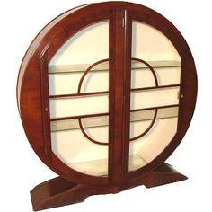 Art Deco round display cabinet