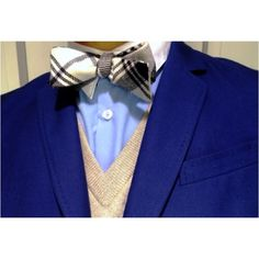 Sweater Vest and Bow Ties | ... sweater vest color but the blues are nice and of course the bow tie is