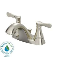 American Standard Alejandra 4 in. 2-Handle Bathroom Faucet in Satin Nickel-7484SF at The Home Depot- not my favorite