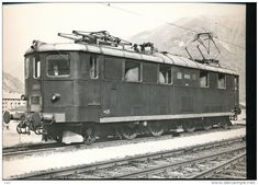 SBB Ae 4-6 10812 San Gotardo (1941-1945) Swiss Railways, Electric Train, Oil Rig, Electric Locomotive, Trains, Ships, Red, Photo Illustration, Boats