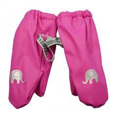 Rain mittens with fleece lining, pink, Celavi