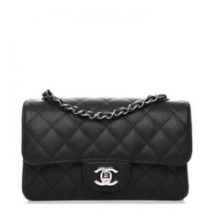 512ead0ff6fb86 CHANEL Caviar Quilted Mini Rectangular Flap Black ❤ liked on Polyvore  featuring bags, handbags and