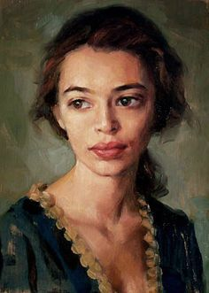 Image result for oil painting portrait to side of canvas