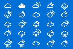 75 Slim and Simple Weather Icons