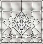 Bradham Bevel window Faux Privacy Stained Glass Clings and Window Films