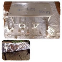 An abused coffee table given a lot of love.