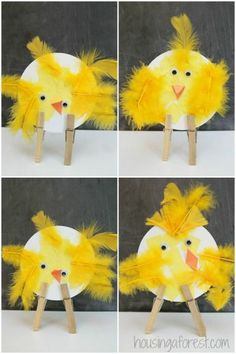 Adorable Easter Chicks Easter Chicks ~ simple bird crafts for pres. - Adorable Easter Chicks Easter Chicks ~ simple bird crafts for preschoolers - Easter Activities, Spring Activities, Craft Activities, Summer Crafts For Toddlers, Easter Crafts For Kids, Toddler Art, Toddler Crafts, Spring Crafts, Holiday Crafts