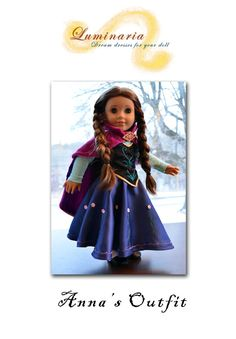 "Pattern NO DRESS To Make Disney's Frozen Anna's Dress Outfit Clothes for 18"" American Girl -Luminaria on Etsy, $15.00"
