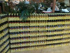 Building a Guayaki fortress -- Whole Foods PCH, El Segundo CA