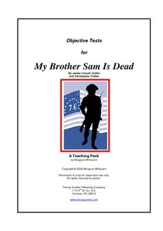 a literary analysis of my brother sam is dead by james lincoln collier and christopher collier Sam is dead christopher collier & james lincoln collier  writing help how  to write literary analysis  order my brother sam is dead at bncom previous.