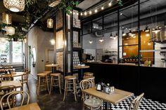 Pasta Miasta: An Italian restaurant with industrial vibe Concept Restaurant, Italian Restaurant Decor, Deco Restaurant, Restaurant Photos, Pizzeria Design, Small Restaurant Design, Design Presentation, Design Brochure, Vintage Cafe