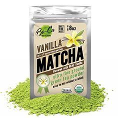 Vanilla Organic Matcha Green Tea Powder - 80 Servings, 8 oz - 2 Ingredients, Natural Flavored Instant Tea for Drinking, Smoothies or Baking, Grade A Matcha ** You can find more details by visiting the image link. Matcha Green Tea Powder, Green Powder, Iced Tea Maker, Organic Matcha, Vanilla Flavoring, 2 Ingredients, Drinking Tea, Gourmet Recipes, Smoothies