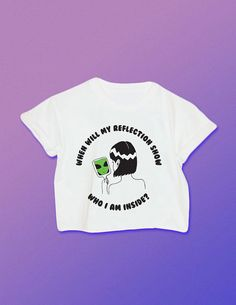 When Will My Reflection Show Who I am Inside Alien Shirt // Alien // 90s Grunge // Space Babe // Space Grunge // Vaporwave Shirt
