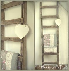 Houten Ladder Xenos.Decoratie Ladder Action Geimpregneerd Hout Beitsen