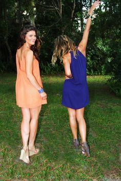 Cute orange and blue dresses for gator football gameday