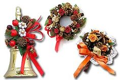 Producer of small artificial flowers, leaves, foliage and fruits which are used for wedding badges and wedding decorations. Additionally traditional Salzburg Spice Bouquets and Christmas decorations are produced, mainly from spices. Xmas Ornaments, Christmas Wreaths, Xmas Decorations, Wedding Decorations, Wedding Badges, Homemade Gifts, Artificial Flowers, Crafts For Kids, Spices