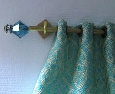 how to: interchangeable finial curtain rods