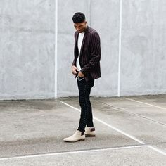 Earn your stripes. Yas to @jovelroystan serving looks in sleek Chelsea boots Lintlaw. #manicmonday #AldoCrew