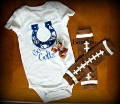 Colts Football Embroidered Applique Girls by BaublesBlingBoutique, $25.00