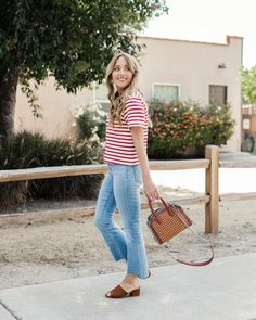 Cropped flares and the softest tee in the world... On the blog today.  {jeans are on major sale! link in profile} // http://liketk.it/2s4yL #liketkit @liketoknow.it #LTKunder100 #LTKunder50 #LTKsalealert #LTKitbag