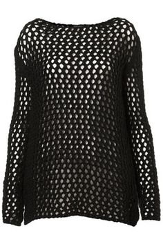 Topshop Knitted Pointelle Jumper