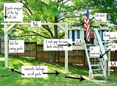 diy playground | diy swing set and playhouse plans