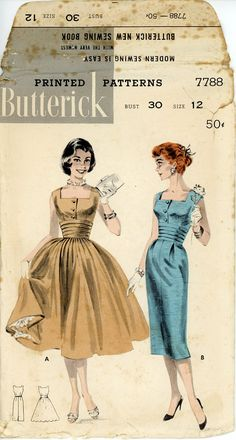 Butterick 7788 Misses 1950s Dress Pattern Full or by CynicalGirl, $26.00