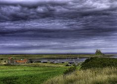 """""""A Grand View of Lindisfarne"""" Priory, Holy Island, Northumberland 2d Art, Dream Vacations, Summer 2015, Lightroom, Landscapes, Castle, England, Europe, Mountains"""