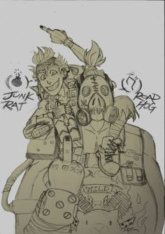 RoadHog and JunkRat dont give a f@#k! by SeniorPotato on DeviantArt