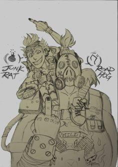 RoadHog and JunkRat dont give a f@#k! by SeniorPotato on DeviantArt