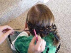 Ribbon French Braid Hairstyle Design