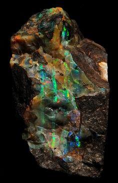 Lightning Ridge Opal Specimen by Woods Stoneworks and Photo Factory, via Flickr