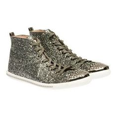 #Glitter high-top sneaker
