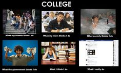 """What People Think I Do"" - College"