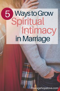 There is no one way to grow spiritual intimacy in marriage. I've struggled with this myself because my spouse and I have very different styles of approaching spiritual growth. Neither approach is wrong, and yet, in marriage two are to become one. So ho