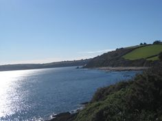 Coastal path near Falmouth, Rosamunde Pilcher uses many beautiful settings in rural and coastal Scotland and England.