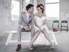 Wedding Couple at Enka Fabriek Ede.  Check our website www.bruidsfotograaf4u.nl to view more photos of this wedding couple.  #wedding #weddingphotography #bride #redhair #hairstyles #bruidsfotograaf4u.nl #kayphoto4u #bruidsfotograaf