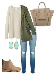 A fashion look from December 2015 by mcgeemaddie featuring La Garçonne Moderne, Rebecca Minkoff, H&M, CÉLINE and Kendra Scott Mode Outfits, Jean Outfits, Fashion Outfits, Womens Fashion, Petite Fashion, Fall Winter Outfits, Autumn Winter Fashion, Summer Outfits, Mode Shoes
