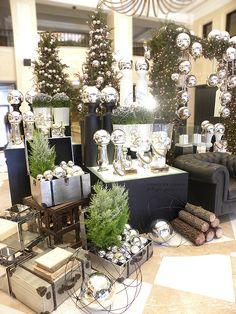 FLOR de LISBOA, christmas decoration, hotel lobby, silver