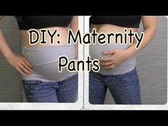 DIY: How To Make Maternity Pants - YouTube