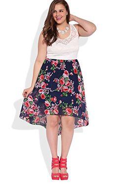 Deb Junior Plus Size High Low Dress with Floral Print Skirt Navy 1X DEB http://www.amazon.com/dp/B00LGP1H5U/ref=cm_sw_r_pi_dp_uo5aub052AAES