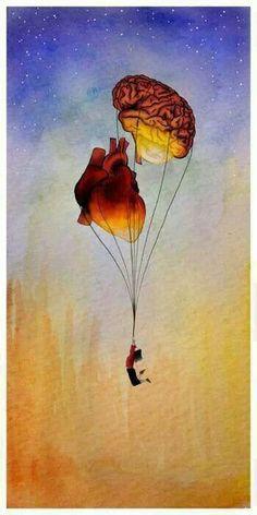 Illustration - illustration - www. illustration : – Picture : – Description www.creativeboysc… -Read More – Arte Com Grey's Anatomy, Anatomy Art, Heart Anatomy, Brain Anatomy, Anatomy Drawing, Brain Art, Brain Drawing, Heart Art, Surreal Art