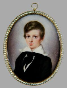 Edward John Lake, age 13  Signed by Louis Theodore Herman  1836