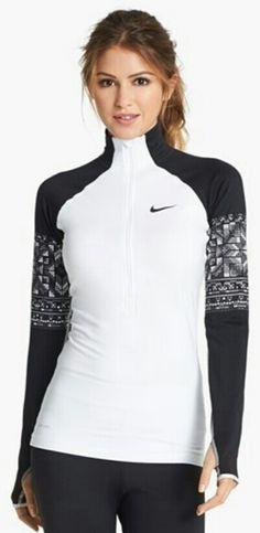 Black white Nike top